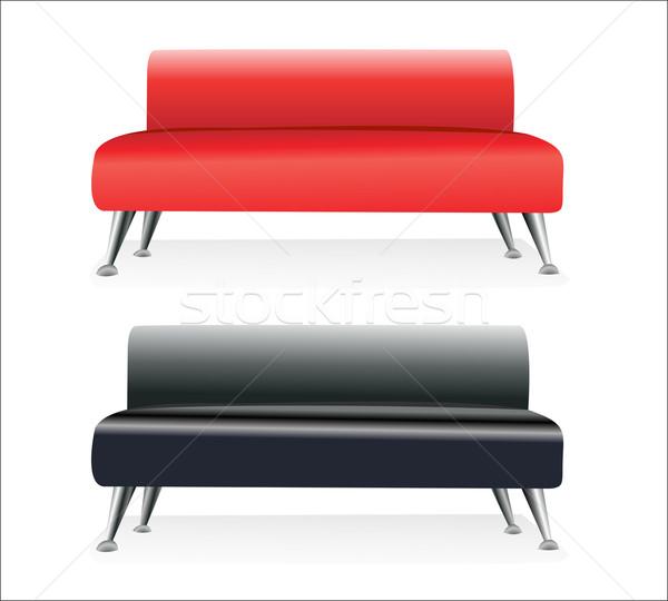 Modern kanapé pár városi szék bútor Stock fotó © mitay20