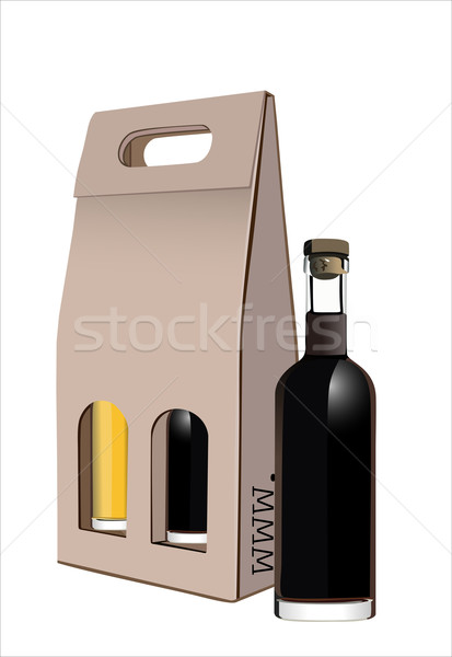 段ボール ギフト ワイン ボトル ボックス ディナー ストックフォト © mitay20