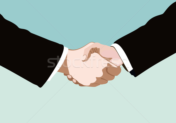 handshake isolated on business background Stock photo © mitay20