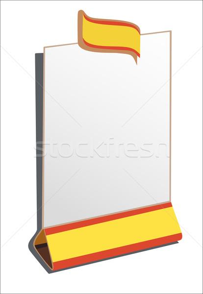 étterem menü keret felirat marketing óriásplakát Stock fotó © mitay20