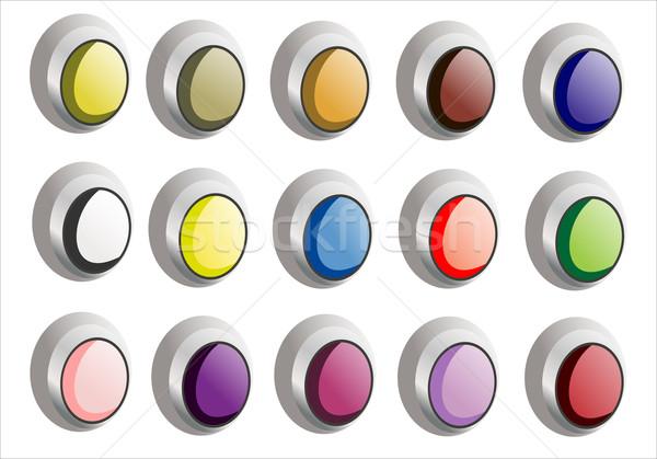 ボタン オレンジ にログイン ウェブ 緑 ストックフォト © mitay20