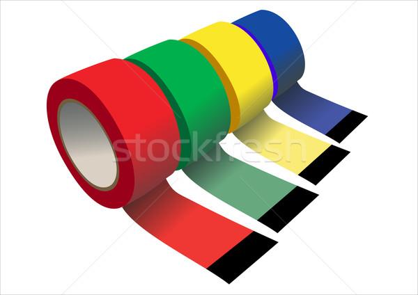 Szett ragasztószalag terv csoport fehér szalag Stock fotó © mitay20