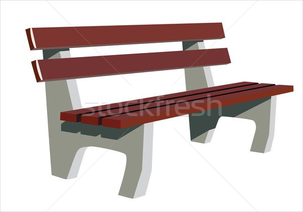 木製 ベンチ 家具 ヴィンテージ オブジェクト ストックフォト © mitay20