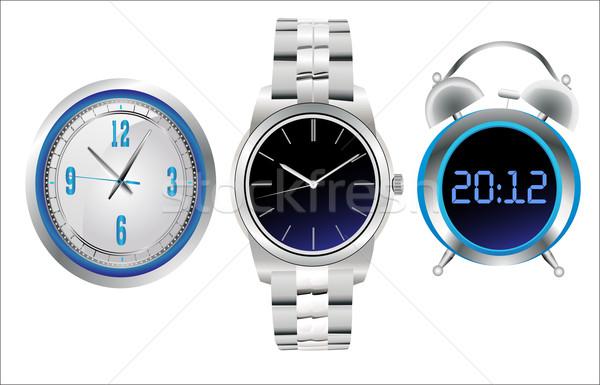 óra szett iroda digitális időzítő stopperóra Stock fotó © mitay20