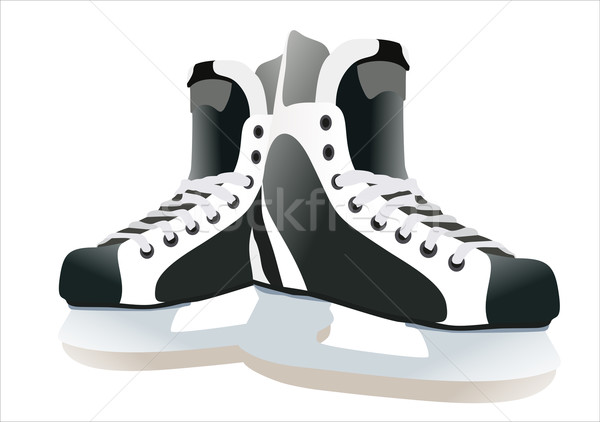 Pair of hockey skates isolated on white background Stock photo © mitay20