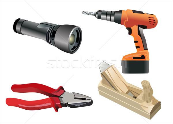Photo stock: Différent · outils · blanche · construction · travaux