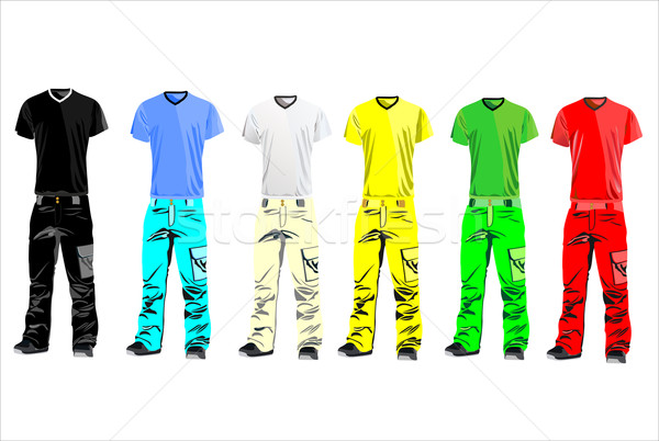 Ruházat férfiak illusztráció vektor ruházat üzlet Stock fotó © mitay20