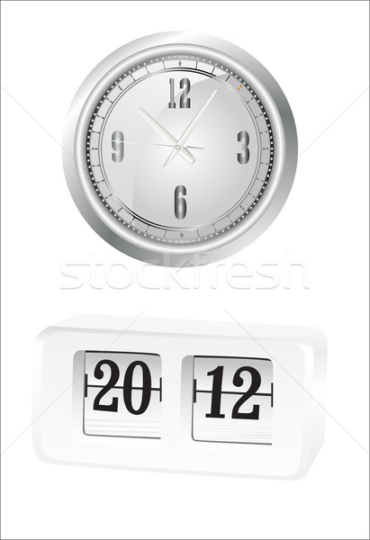 Clock set. Office, digital, timer, stopwatch, alarm. Stock photo © mitay20