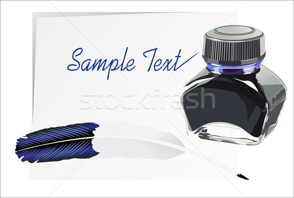 Toll toll tinta kalligrafikus fény háttér Stock fotó © mitay20
