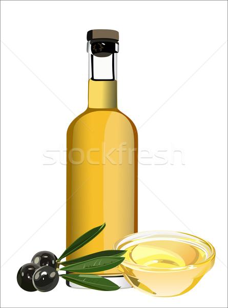 オリーブオイル オリーブ 支店 孤立した 白 自然 ストックフォト © mitay20