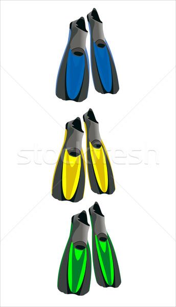 孤立した 白 速度 黒 水中 靴 ストックフォト © mitay20