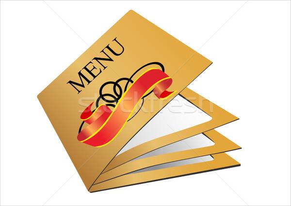 étterem menü textúra művészet bár kávézó Stock fotó © mitay20