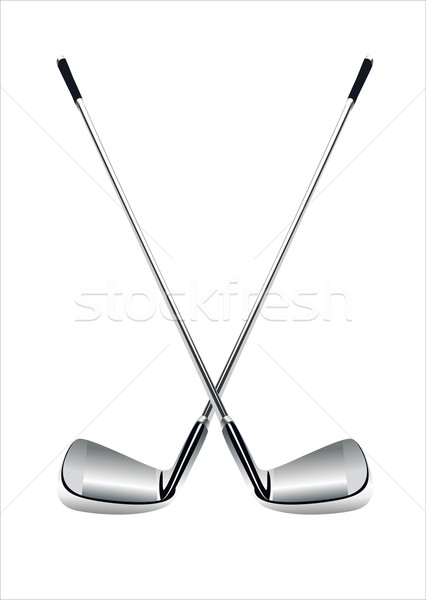 Stock photo: Golf clubs on white backgroundия