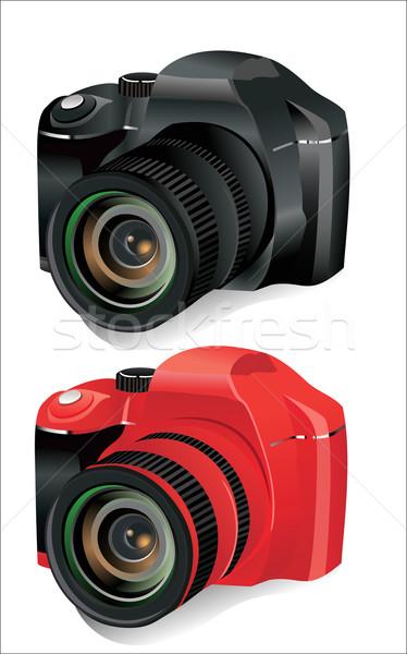 Digitális kamera izolált fehér fekete fotó Stock fotó © mitay20