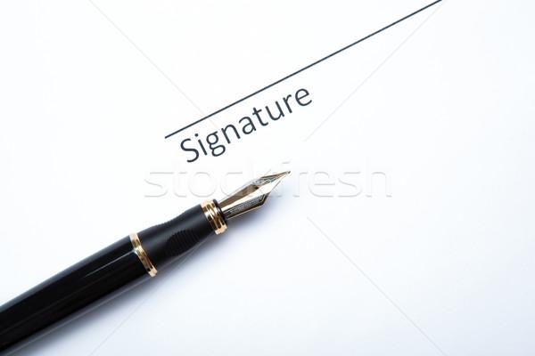 fountain pen and signature Stock photo © mizar_21984