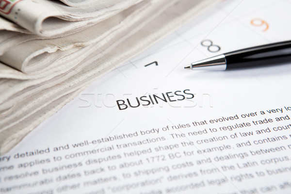 document with the title of business Stock photo © mizar_21984