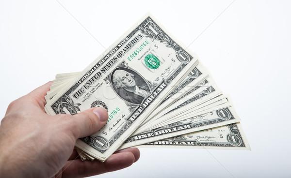 Mão dólar projeto de lei banco mercado Foto stock © mizar_21984