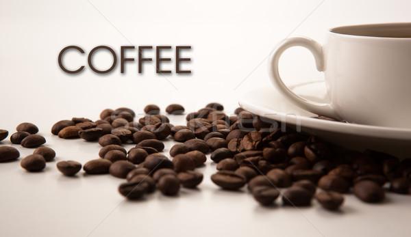 Stok fotoğraf: Fincan · siyah · kahve · kahve · fasulye · başlık