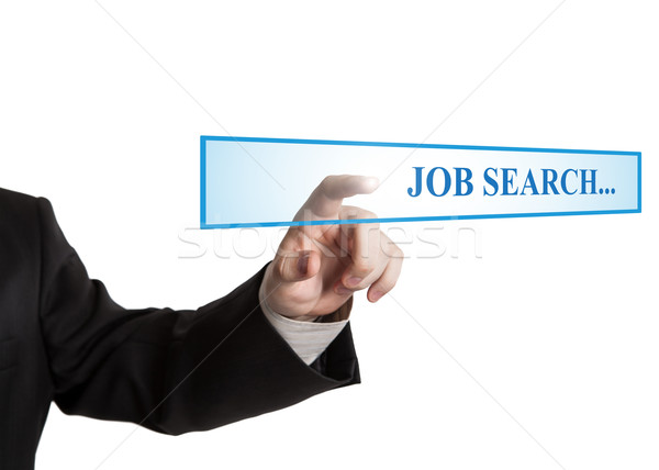 man's hand clicks on the address bar job search Stock photo © mizar_21984