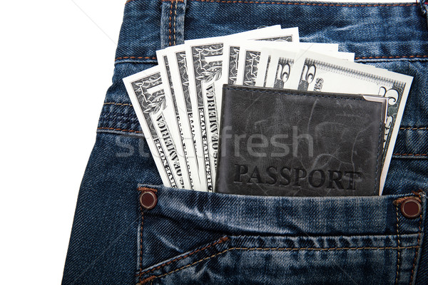 money with a passport in your pocket Stock photo © mizar_21984