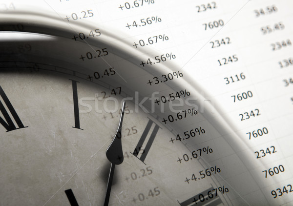 table with numbers and clock face Stock photo © mizar_21984