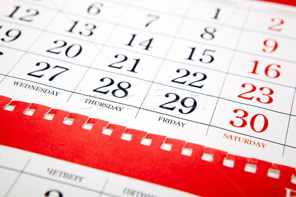 big pile of red wall calendar sheets closeup Stock photo © mizar_21984