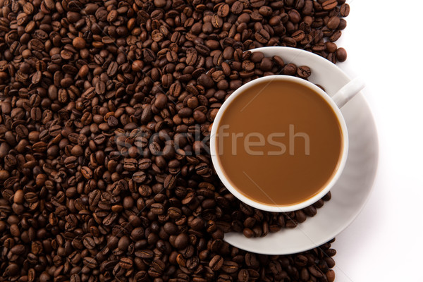 cup of coffee with milk Stock photo © mizar_21984