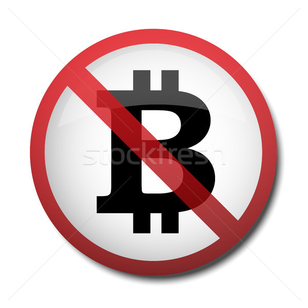 illustration of a sign prohibiting a symbol of the bitcoin Stock photo © mizar_21984