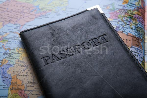 Paszport worek Pokaż dokumentu wakacje Zdjęcia stock © mizar_21984
