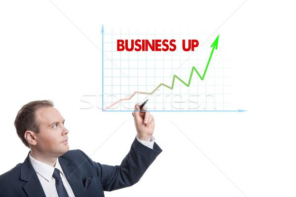 businessman drawing chart Stock photo © mizar_21984