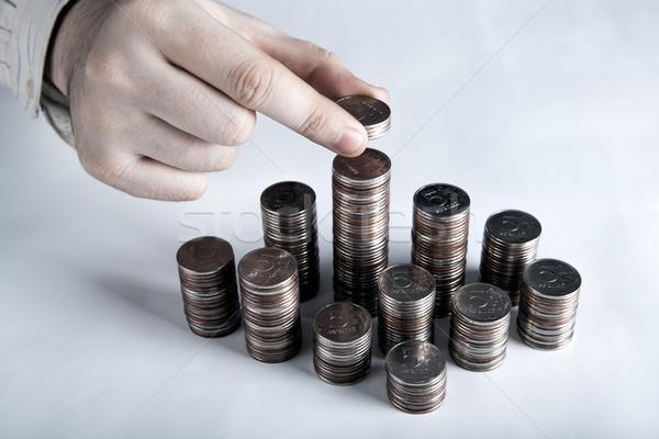 five-ruble coin in man's hands Stock photo © mizar_21984
