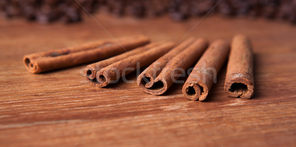 cinnamon sticks closeup Stock photo © mizar_21984
