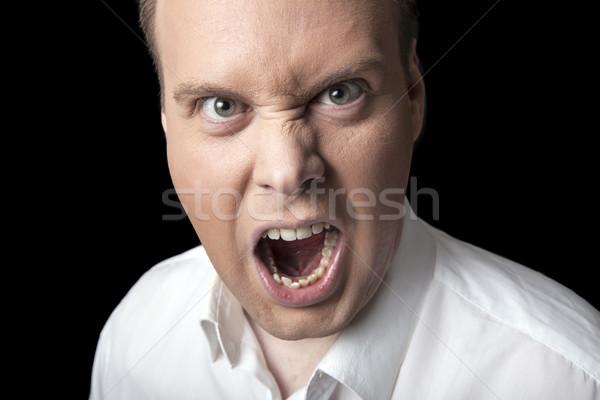 face screaming men Stock photo © mizar_21984