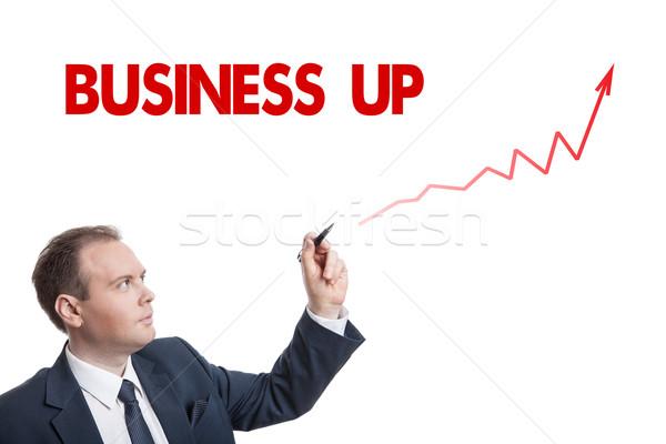 Empresário desenho traçar texto isolado negócio Foto stock © mizar_21984