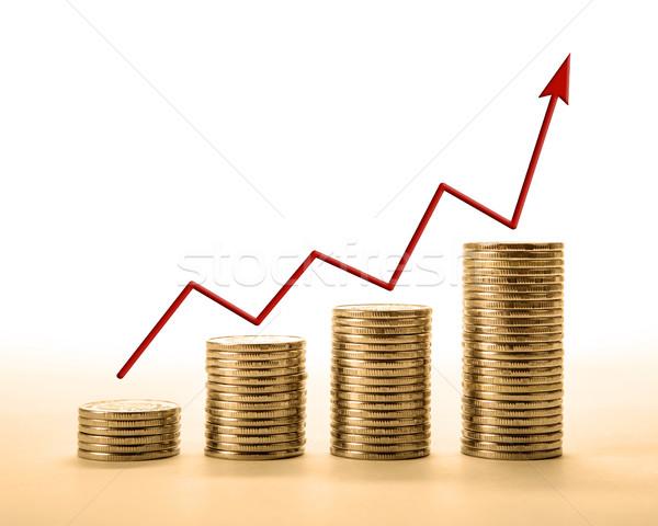 érmék diagram közelkép üzlet piac állás Stock fotó © mizar_21984