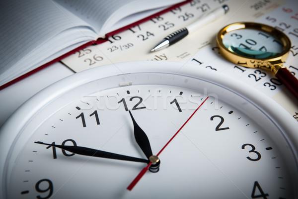 Negócio vida escritório trabalhar calendário Foto stock © mizar_21984