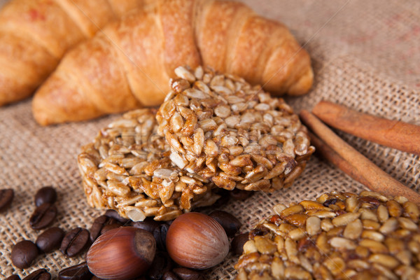 peanut brittle and hazel Stock photo © mizar_21984
