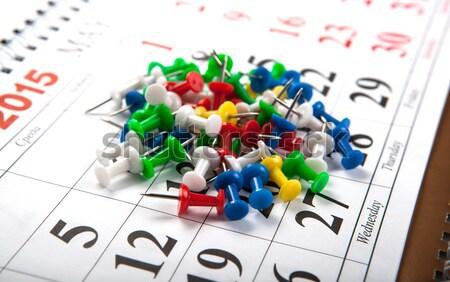Aiguilles calendrier affaires cadre Photo stock © mizar_21984