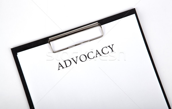 document with the title of advocacy Stock photo © mizar_21984