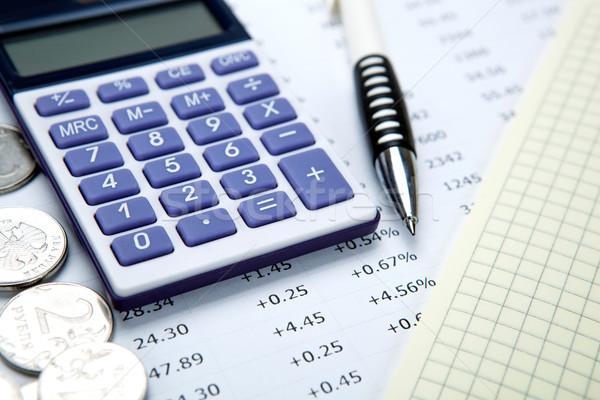 Orosz számológép toll közelkép üzlet piac Stock fotó © mizar_21984