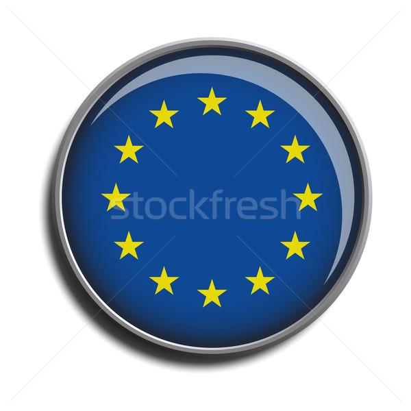 フラグ アイコン webボタン ヨーロッパの 組合 孤立した ストックフォト © mizar_21984