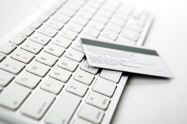嘘 ノートパソコンのキーボード ビジネス ノートパソコン ストックフォト © mizar_21984