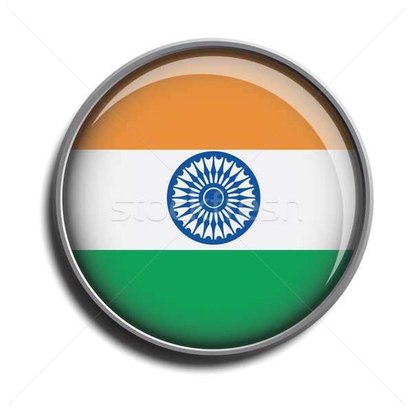 flag icon web button india Stock photo © mizar_21984