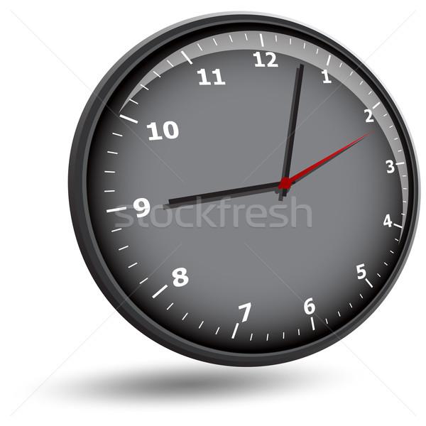 Stock photo: wall clock face