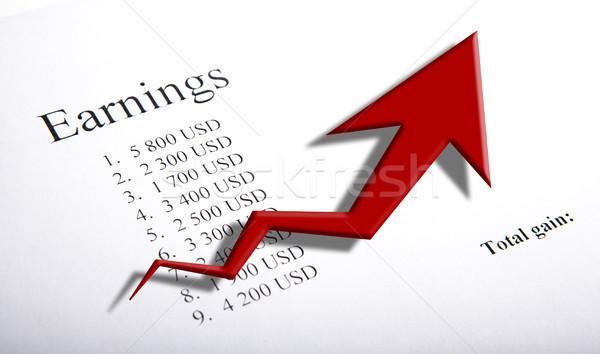 Asztal kereset számjegyek diagram közelkép üzlet Stock fotó © mizar_21984