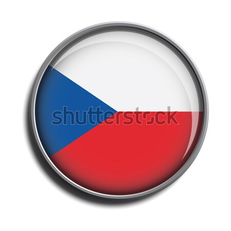 flag icon web button czechia Stock photo © mizar_21984