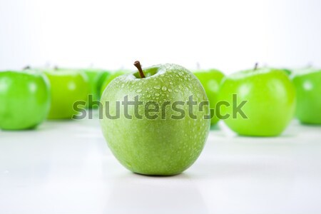Stock photo: close-up of an apple green 1