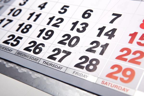 wall calendar and number of days closeup Stock photo © mizar_21984