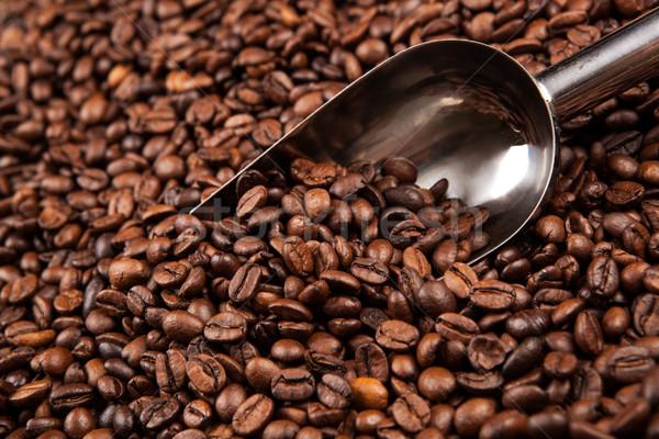 Grains de café évider table agriculture Photo stock © mizar_21984