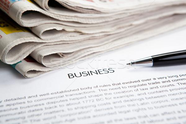 Documento título negocios periódico primer plano papel Foto stock © mizar_21984